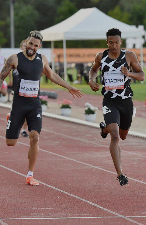 Donovan Brazier beats Wesley Vasquez in the 600m